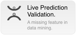 Until today, in data mining, model validation ends where modeling finishes. The model is then 				  	applied in real processes for prediction, classification, recommendation, diagnosis as if it would 				  	work stable and correct under all circumstances. But by far, it actually does not. Data mining models 				  	are always built on a finite set of data with certain properties. Therefore, like any model, they reflect the 				  	underlying object or process incomplete and approximately, only. Their validity is limited in space and/or time which 				  	defines their actual applicability domain. 				  	If a model works in its applicability domain or not only depends on the 				  	input data given to the model at runtime to predict an outcome. If a model works outside its domain it gets 				  	instable with irregular and presumably false prediction. How can a prediction respectively model be used with good conscience if there is no indication 				  	if it is applicable at all to the given inputs? The situation that a model works outside its applicability domain is 				  	not exceptional but can happen very often, especially for nonlinear models which are common in data mining.